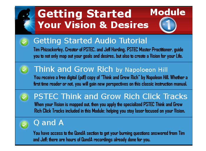 Think and Grow Rich with PSTEC - Module1